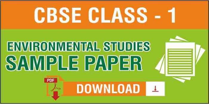 CBSE Class 1 EVS Sample Paper
