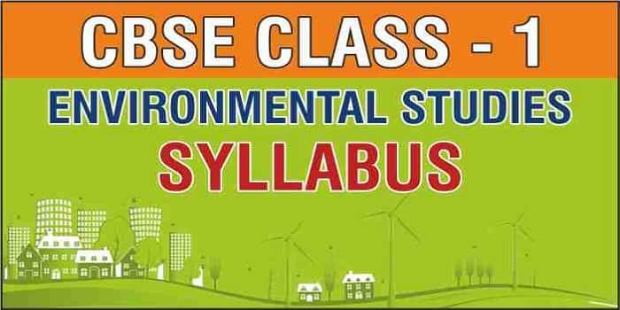 CBSE Class 1 EVS Syllabus