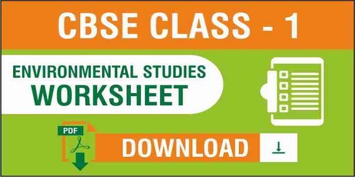 CBSE Class 1 EVS Worksheets