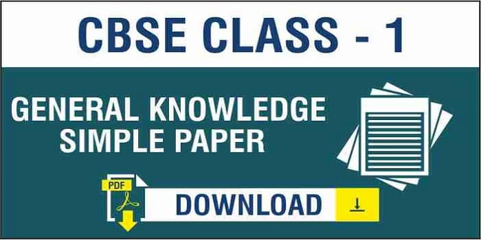 CBSE Class 1 GK Sample Paper