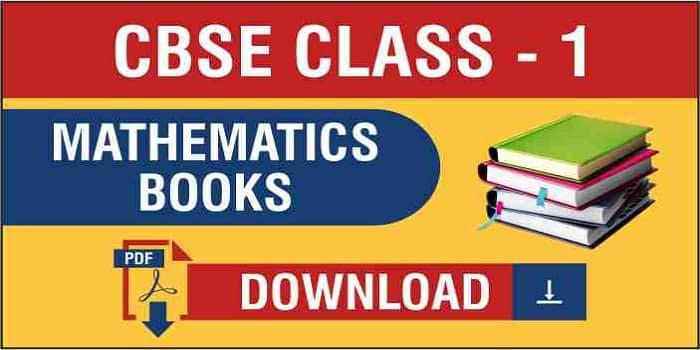 CBSE Class 1 Maths Book