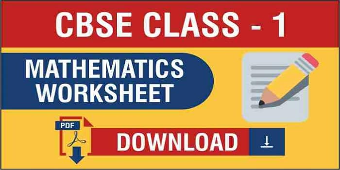 CBSE Class 1 Maths Worksheets