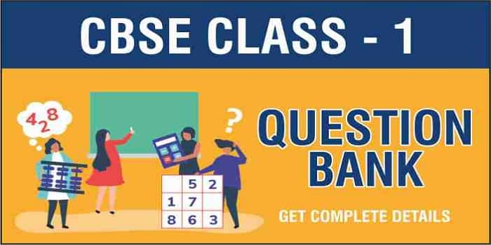 CBSE Class 1 Question Bank