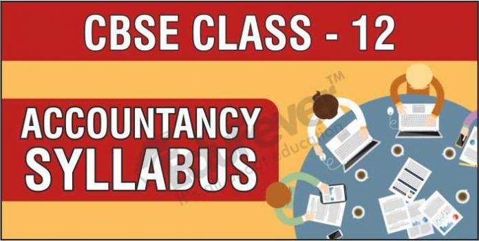CBSE Class 12 Accountancy Syllabus