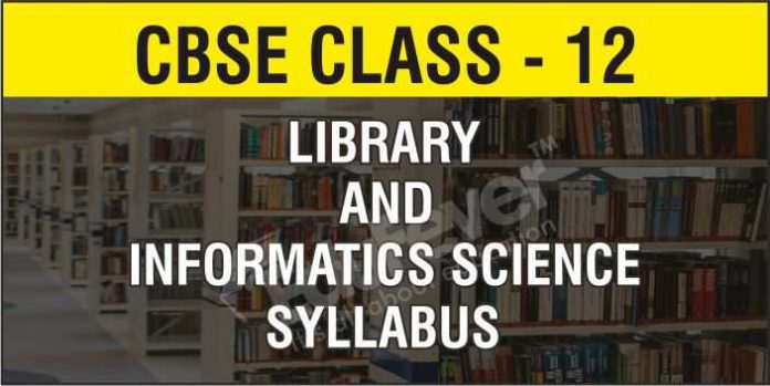 CBSE Class 12 Library and Information Science