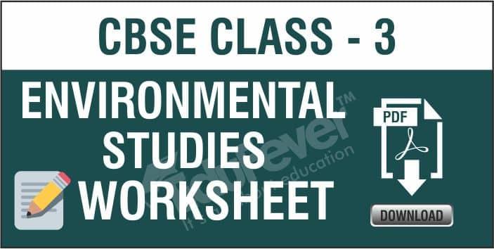 CBSE Class 3 EVS Worksheets