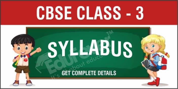 CBSE Class 3 Syllabus