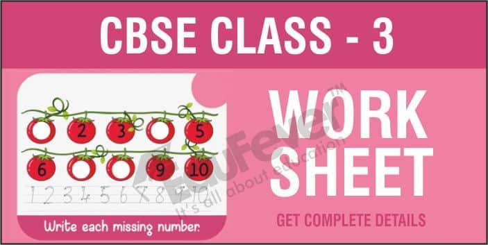 CBSE Class 3 Worksheets