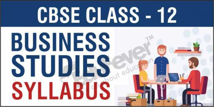 CBSE Class12 Business Studies Syllabus