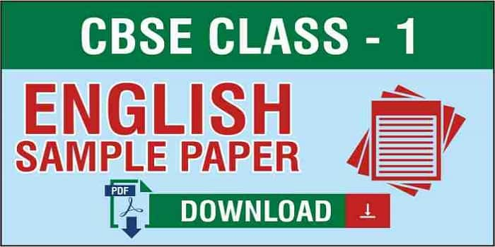 Class 1 English Sample Papers