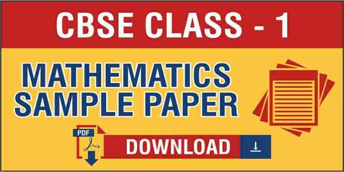 Class 1 Maths Sample Papers