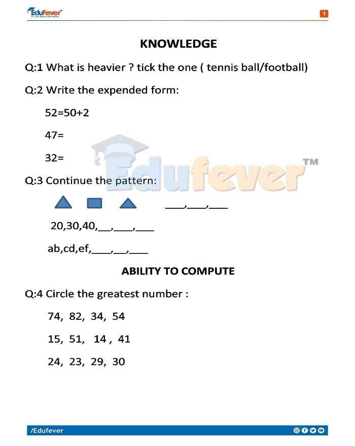 Class 2 Maths Question Bank