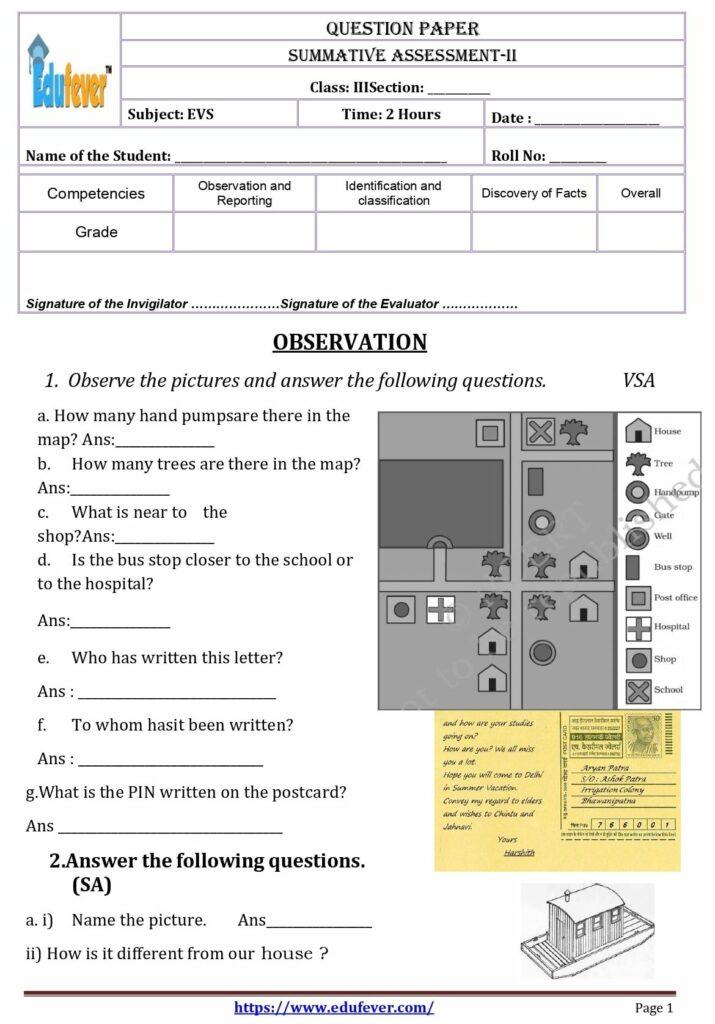 EVS Question Paper