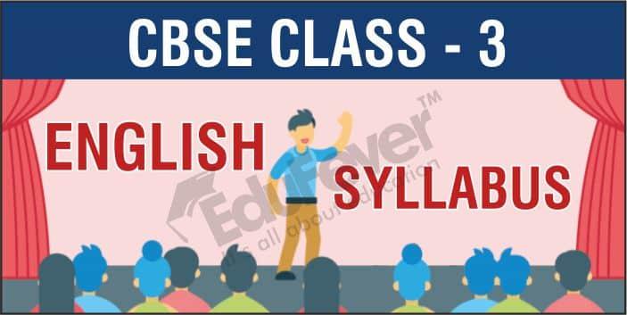 Class 3 English Syllabus