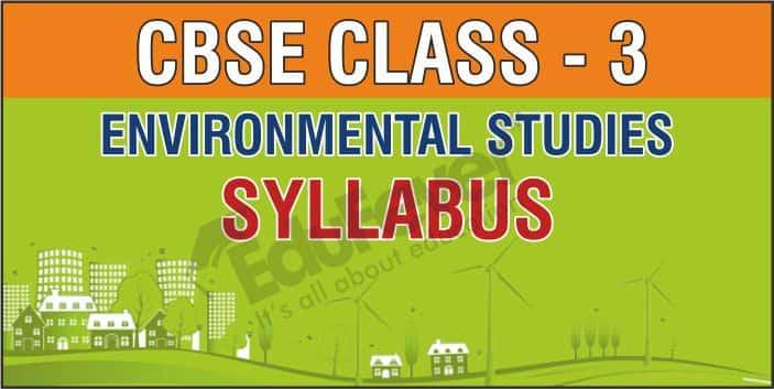Class 3 Environmental Studies Syllabus