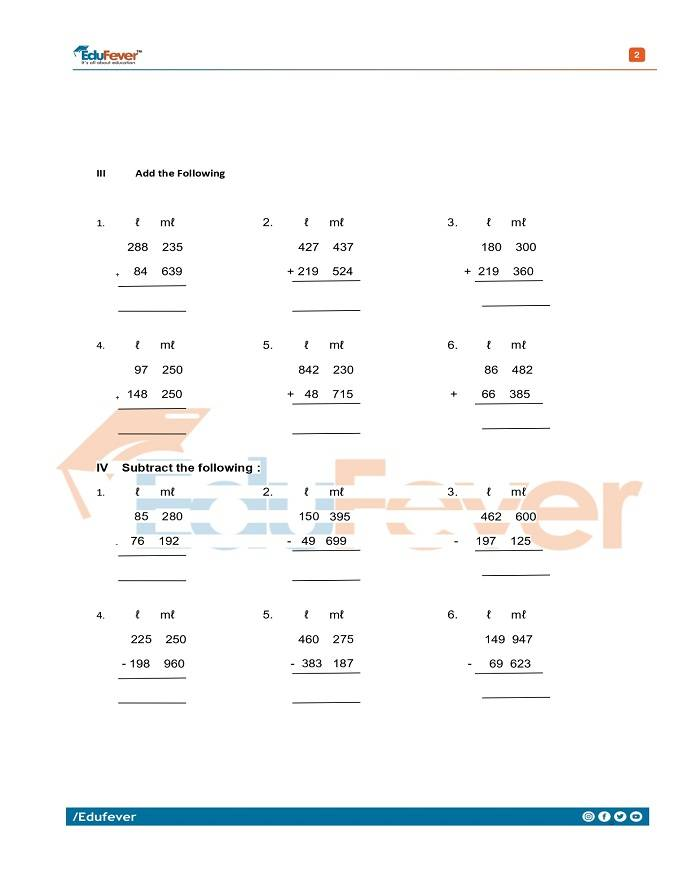 Class 3 Maths Question Papers