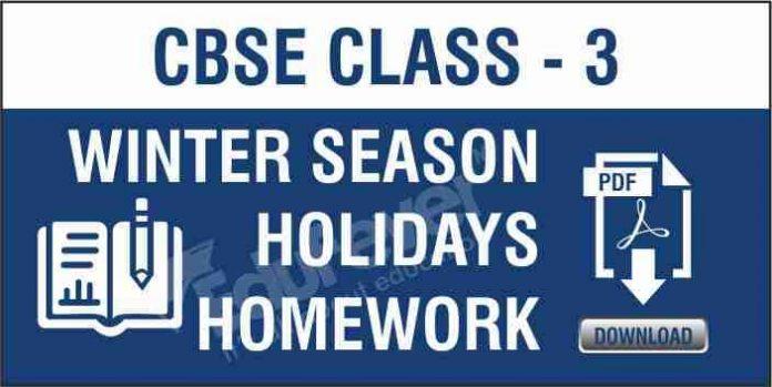 Class 3 Winter Season Holiday Homework