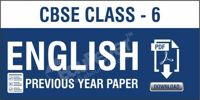Class 6 English Previous Year Paper
