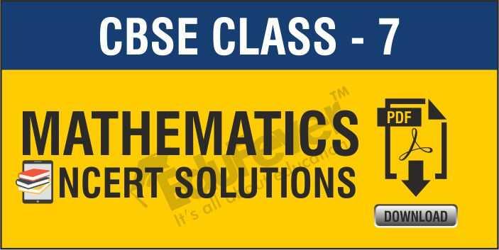 Class 7 Maths NCERT Solutions