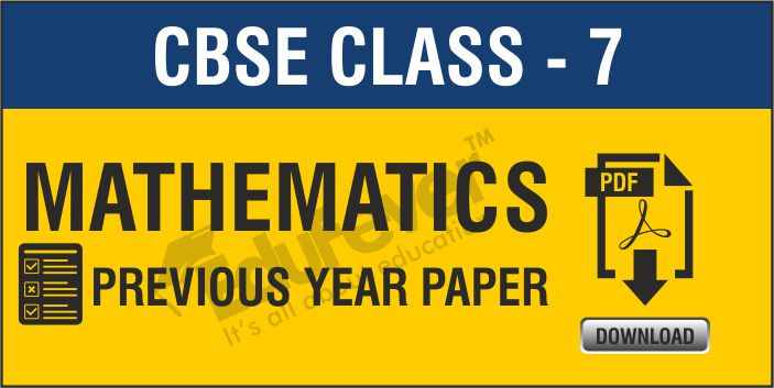 Class 7 Maths Previous Year Papers