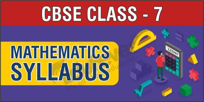 Class 7-Maths-Syllabus