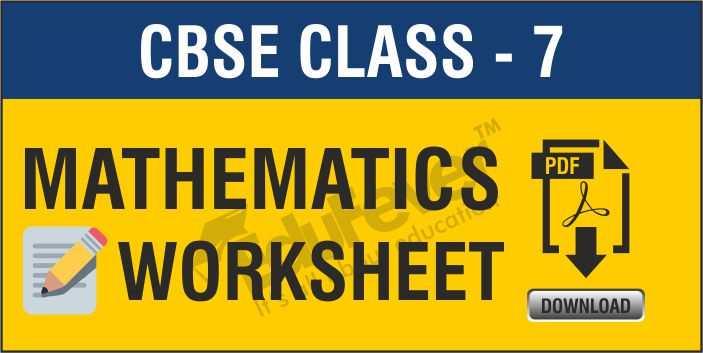 Class-7 Maths Worksheets