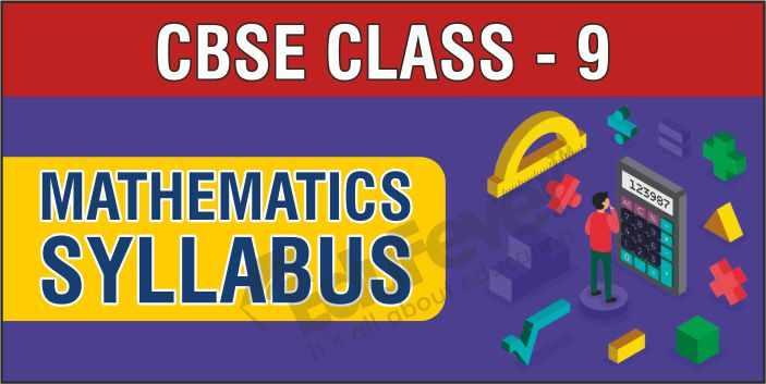 Class 9 Maths Syllabus