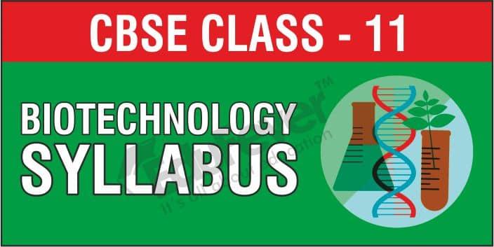CBSE Class 11 Biotechnology Syllabus