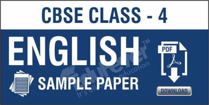 CBSE Class 4 English Sample Paper