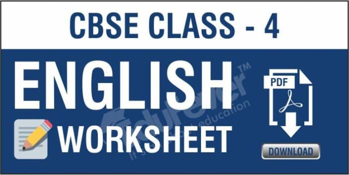 CBSE Class 4 English Worksheets