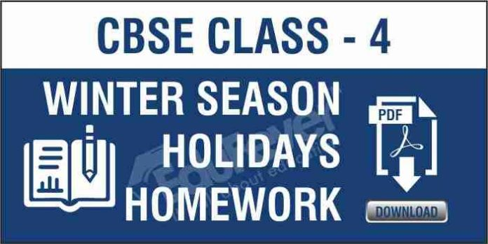 CBSE Class 4 Winter Season Holiday Homework