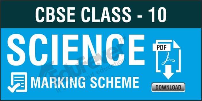 Class 10 Science Marking Scheme