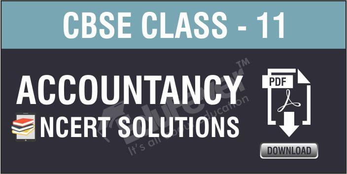 Class 11 Accountancy NCERT Solutions