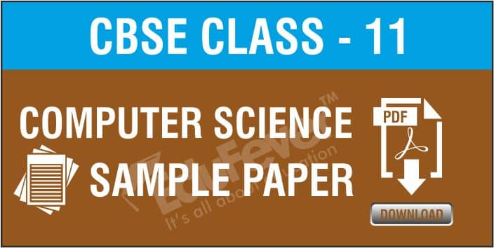 Class 11 Computer Science Sample Papers