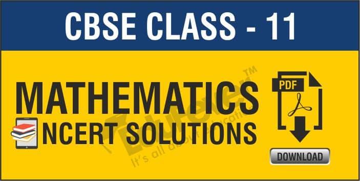 Class 11 Mathematics NCERT Solutions