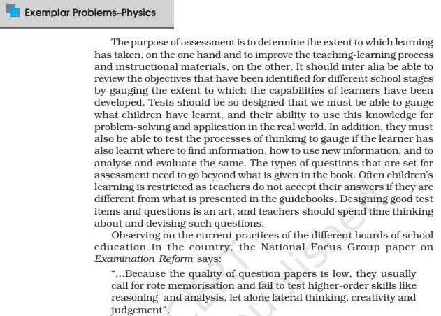 Class 11 Physics Exemplar Book & Solutions