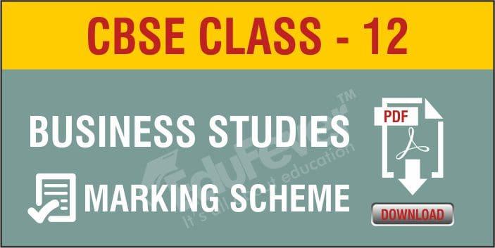 Class 12 Business Studies Marking Scheme