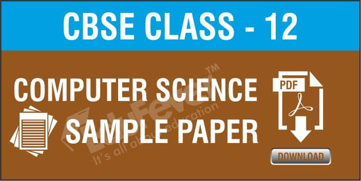 Class 12 Computer Science Sample Paper
