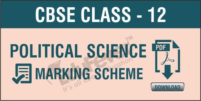 Class 12 Political Science Marking Scheme