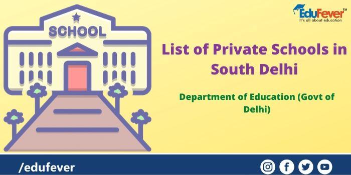 List of Private Schools in South Delhi