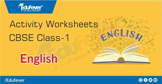 Class 1 English Activity Worksheet