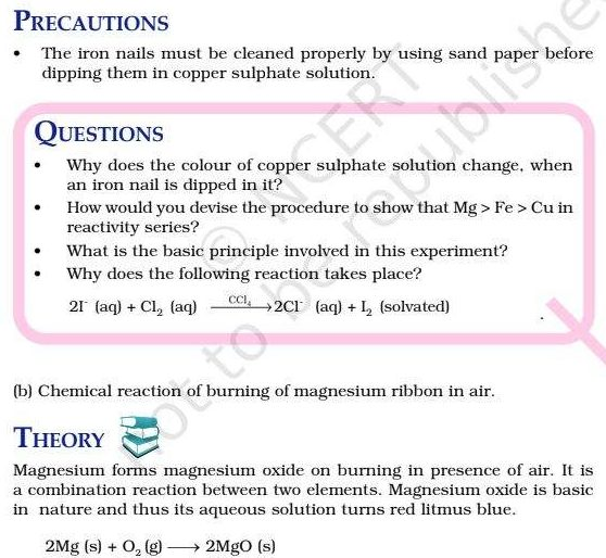 Class 10 Science Lab Manual