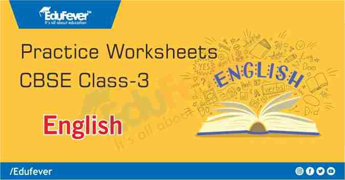 Class 3 English Practice Worksheet