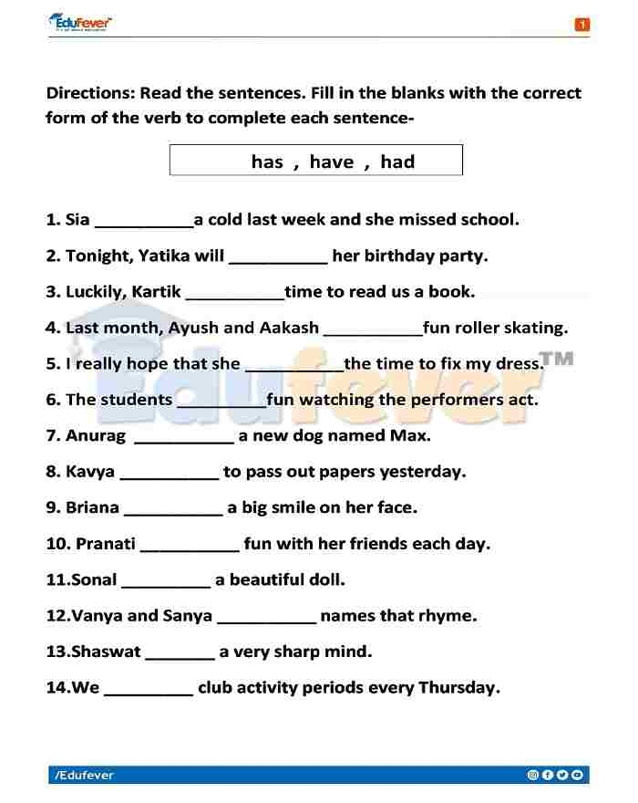 Class 5 English Holiday Homework