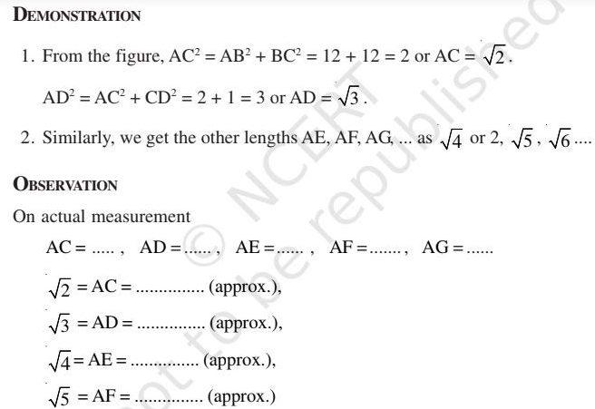 Class 9 Maths Lab Manual