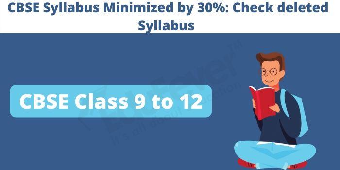 CBSE Syllabus Minimised