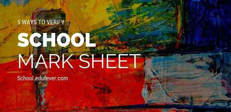 5 Ways to Verify School Mark sheet in India
