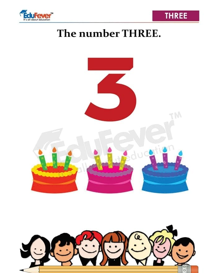 counting of 3