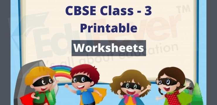 CBSE Class - 3 printable worksheets