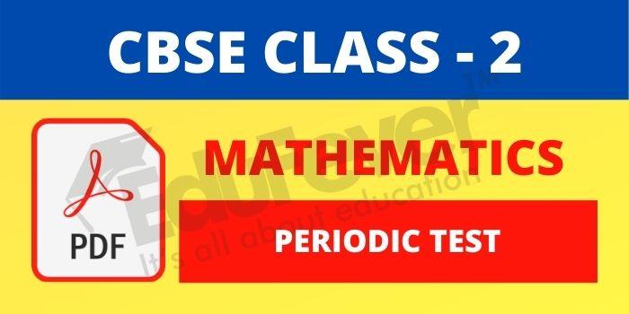 CBSE Class 4 Maths Periodic Test